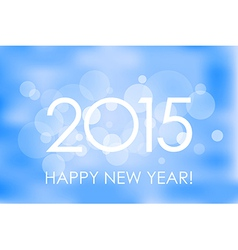 Happy New Year 2015 winter background vector