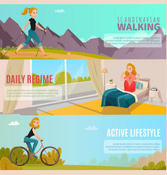 Healthy lifestyle banners vector