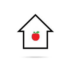 house cartoon with apple vector image