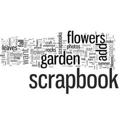 How to craft a garden scrapbook vector