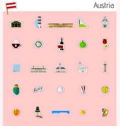icons of austria vector image