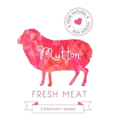 Image meat symbol mutton silhouettes of animal for vector
