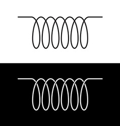 Induction spiral electrical symbol black linear vector