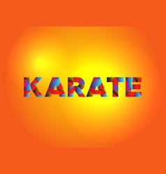 Karate theme word art vector