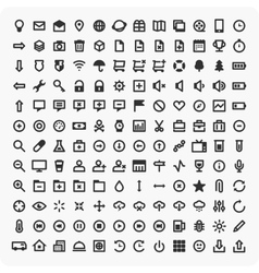 Large set of universal icons vector image