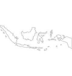 Lines maps indonesia vector