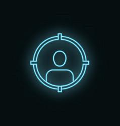 man target neon icon web development icon element vector image
