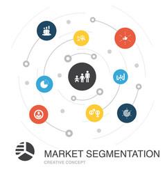 Market segmentation colored circle concept vector