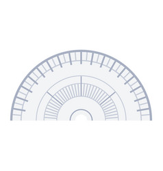 navigator protractor icon flat isolated vector image