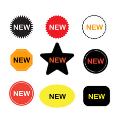 new stickers icon on white background new labels vector image