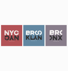 new york city stylish t-shirt and apparel vector image