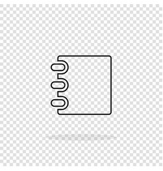 notebook icon notebook icon in trendy flat style vector image
