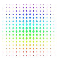 Opium poppy shape halftone spectral pattern vector