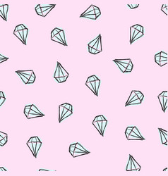 Pattern with diamonds pink background vector