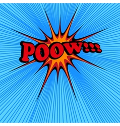 Pow comic text vector image