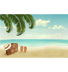 Retro summer vacation background vector
