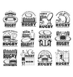 rugicons sport club american football league vector image