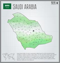 Saudi Arabia map in geometric polygonal style vector