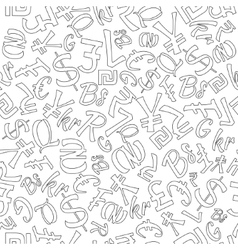 Seamless pattern of random currencies vector