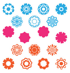 set flower icon vector image