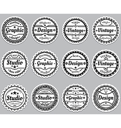 Set old fashioned icons premium design graphic vector