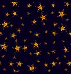 Shining stars seamless pattern vector
