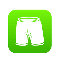 shorts icon green vector image