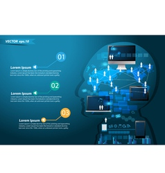 Technology business concept idea make in man vector