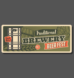 Traditional brewery fest oktoberfest craft beer vector