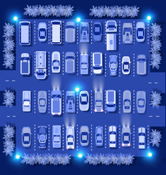 ultraviolet cars map top view city electric vector image