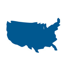 Usa geography map location style vector
