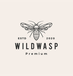 wasp hipster vintage logo icon vector image
