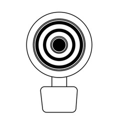 web cam isolated icon vector image