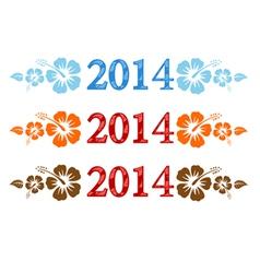 2014 aloha vector image vector image