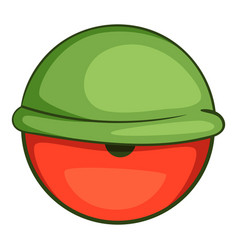 bloodshot eyeball icon cartoon style vector image