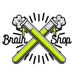 Color vintage scientific shops emblem vector image vector image