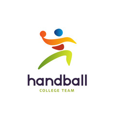 handball sign abstract colorful silhouette vector image vector image