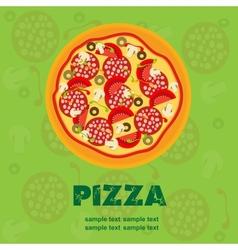 Pizza Menu Template vector image vector image