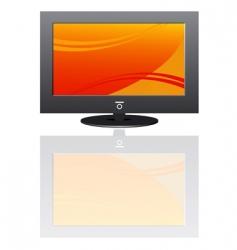 plasma LCD TV vector image
