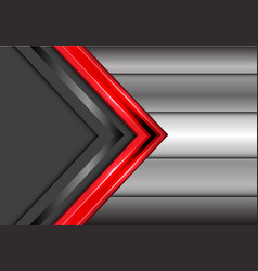 abstract red gray arrow overlap metal modern vector image