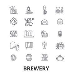 brewery beer tap pub winery distillery ke vector image