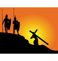 Carrying the cross vector