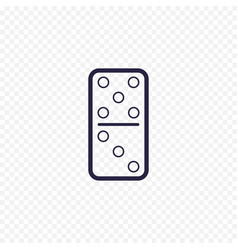 domino game simple line icon game thin linear vector image vector image