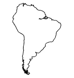 isolated map of south america vector image