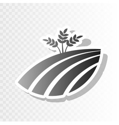 wheat field sign new year blackish icon vector image vector image