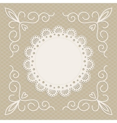greeting card or wedding invitation mono line vector image
