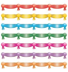 rosette ribbon banners vector image