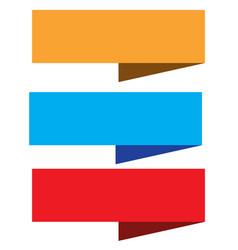 set ribbon banner on white background blue vector image vector image