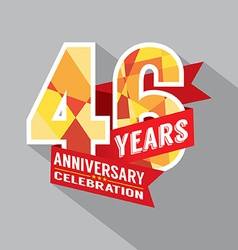 46th years anniversary celebration design vector