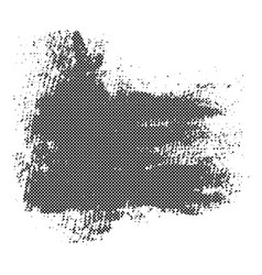 black blob with halftone texture vector image